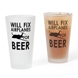 Airplane mechanic Pint Glasses