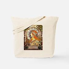 Alphonse Mucha La Plume Zodiac Tote Bag