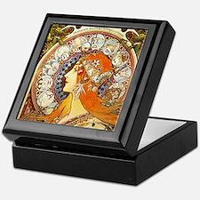 Alphonse Mucha La Plume Zodiac Keepsake Box