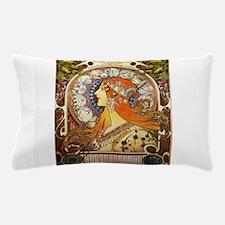 Alphonse Mucha La Plume Zodiac Pillow Case