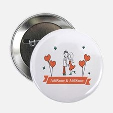 """Personalized Names Couple H 2.25"""" Button (10 pack)"""