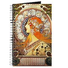 Alphonse Mucha La Plume Zodiac Journal