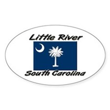 Little River South Carolina Oval Decal