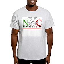 NYC Italian Style Ash Grey T-Shirt