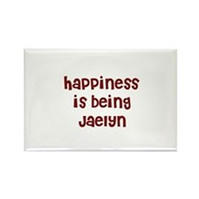 happiness is being Jaelyn Rectangle Magnet