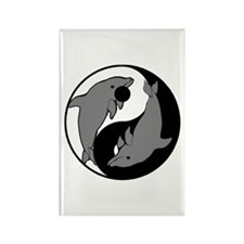 Yin Yang Dolphins 1 Rectangle Magnet