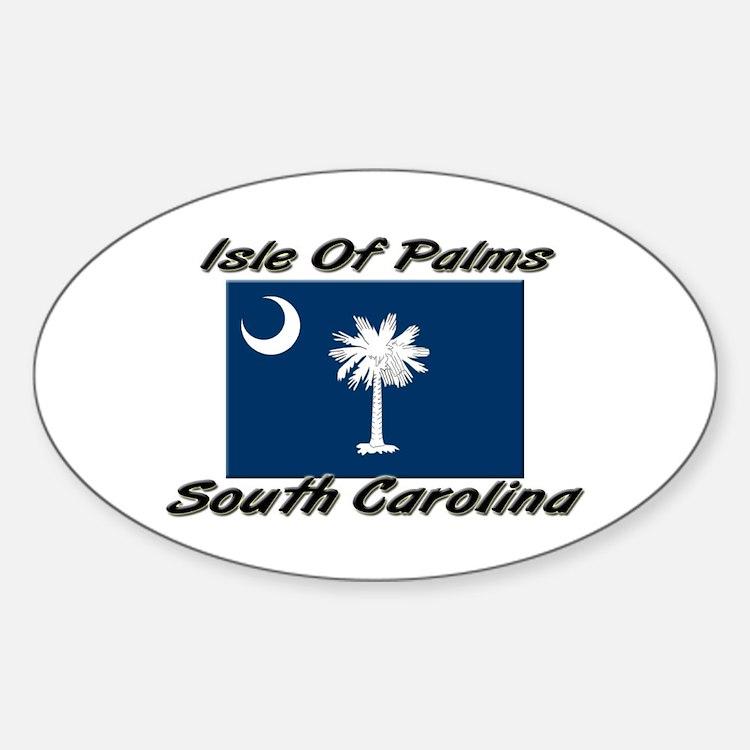 Isle Of Palms South Carolina Oval Decal
