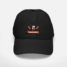 Personalized Names Couple Hearts Baseball Hat