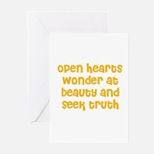 Open hearts wonder at beauty  Greeting Cards (Pack