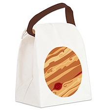 Cute Planet Jupiter Canvas Lunch Bag