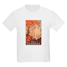 Visit Denmark - Vintage Danish Art Poster T-Shirt