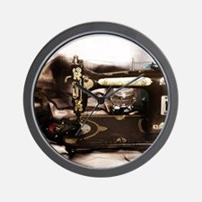 Steampunk Sewing Wall Clock