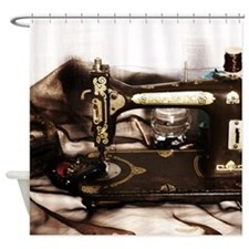 Steampunk Sewing Shower Curtain