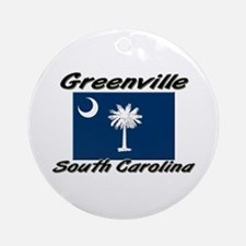 Greenville South Carolina Ornament (Round)