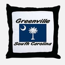 Greenville South Carolina Throw Pillow