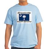 Greenville south carolina Mens Light T-shirts