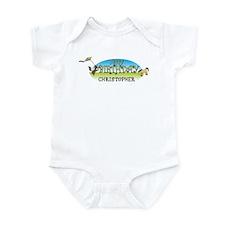 Happy B-Day Christopher (farm Infant Bodysuit