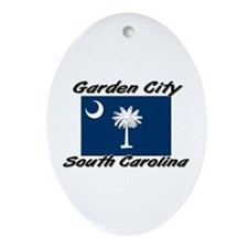 Garden City South Carolina Oval Ornament