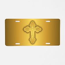 Orthodox Cross Aluminum License Plate