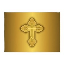 Orthodox Cross 5'x7'area Rug