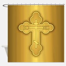 Orthodox Cross Shower Curtain