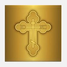 Orthodox Cross Tile Coaster