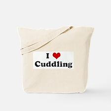 I Love Cuddling Tote Bag