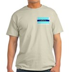 True Blue North Dakota LIBERAL Ash Gray T-Shirt