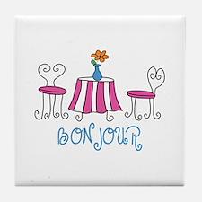 Bonjour Tile Coaster