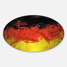 Artsy German Flag Sticker (Oval)