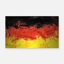 Artsy German Flag Rectangle Car Magnet
