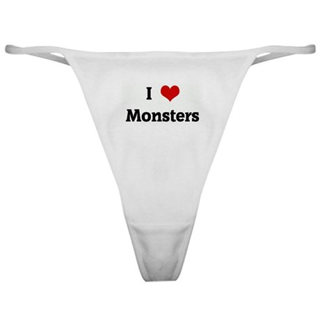 I Love Monsters Classic Thong