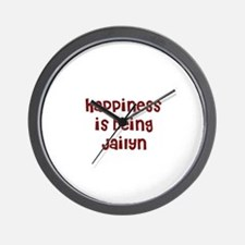 happiness is being Jailyn Wall Clock