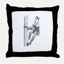 Making The Climb Throw Pillow