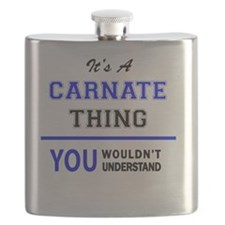 Funny Carnations Flask