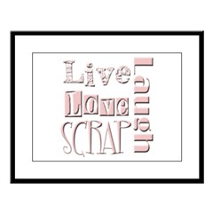 Live Laugh Love Scrap Large Framed Print