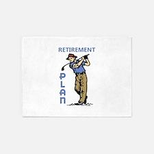 Retirement Plan 5'x7'Area Rug