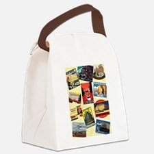 Vintage Travel Posters - London, Canvas Lunch Bag