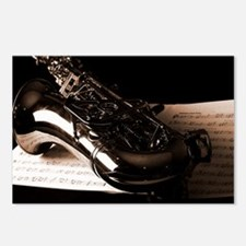 Music-Band-Sax Postcards (Package of 8)