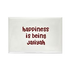happiness is being Jaliyah Rectangle Magnet
