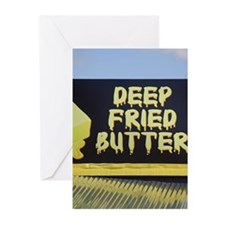 deep fried butter photo Greeting Cards