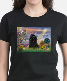 Cloud Angel/Black Cocker Tee