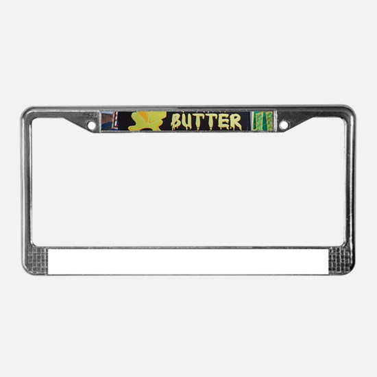 deep fried butter photo License Plate Frame