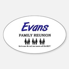 Evans Family Reunion Oval Decal