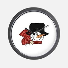 SNOWMANS HEAD Wall Clock