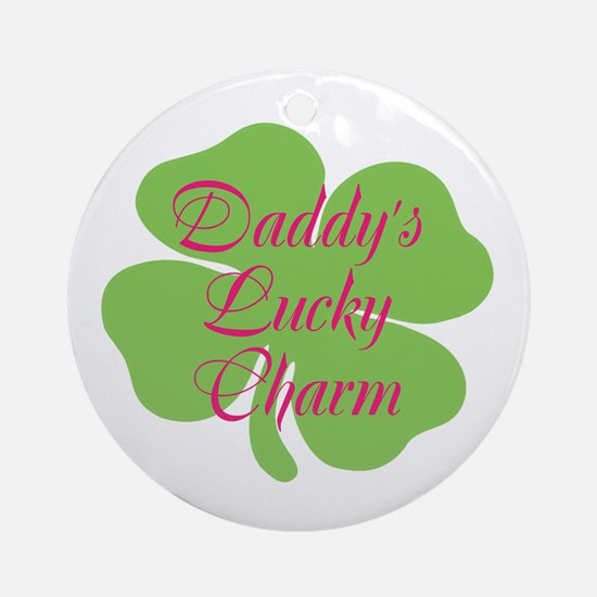 Pink Daddy's Lucky Charm Ornament (Round)