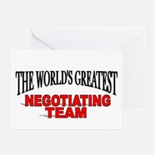 """""""The World's Greatest Negotiating Team"""" Greeting C"""