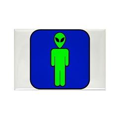 Alien Man Rectangle Magnet (100 pack)