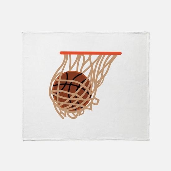 BASKETBALL IN NET Throw Blanket
