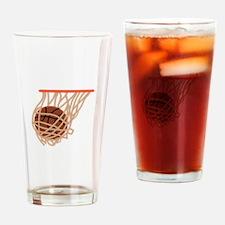 BASKETBALL IN NET Drinking Glass